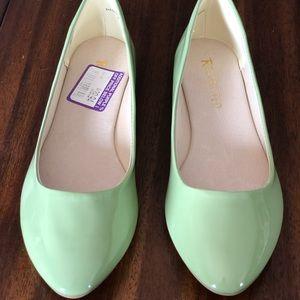 Mint green ballet flats